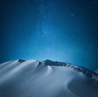 Dramatic Landscape「Mountain Under The Starry Sky」:スマホ壁紙(3)
