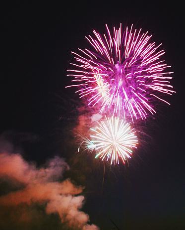 Firework - Explosive Material「Purple Fireworks in the Sky」:スマホ壁紙(14)
