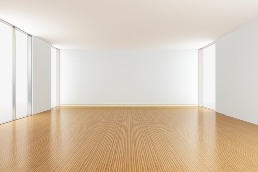 余白「空のアパートメントのリビングルーム」:スマホ壁紙(9)