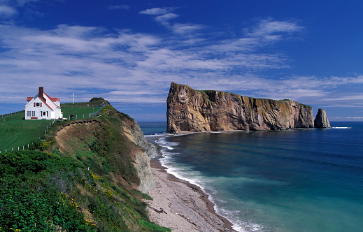 North Atlantic Ocean「A stunning view of the gaspe perce rock in Quebec Canada」:スマホ壁紙(11)