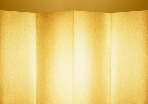 Gold Colored「Golden folding screen」:スマホ壁紙(17)