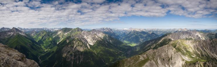 Lechtal Alps「top view from mt. knittelkarspitz」:スマホ壁紙(7)