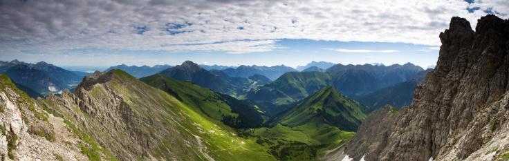 Lechtal Alps「top view from mt. knittelkarspitz in tirol austria」:スマホ壁紙(7)
