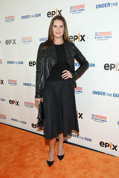Leather Jacket「Under the Gun NY Premiere Event With Katie Couric & Stephanie Soechtig」:写真・画像(17)[壁紙.com]