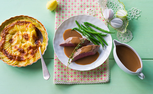 Gravy Boat「Lamb fillet with potato gratin and French beans」:スマホ壁紙(6)