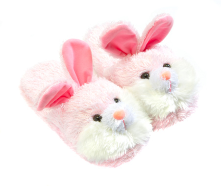 Baby Rabbit「pink bunny slippers」:スマホ壁紙(5)