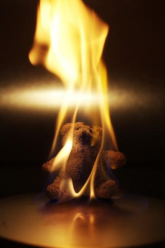 Evil「Burning Teddy Bear」:スマホ壁紙(11)