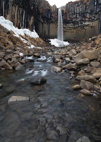 Basalt「Svartifoss Waterfall, Iceland」:スマホ壁紙(3)