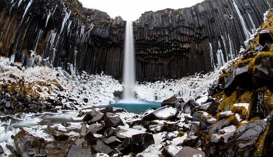 Basalt「Svartifoss Waterfall, Iceland」:スマホ壁紙(8)