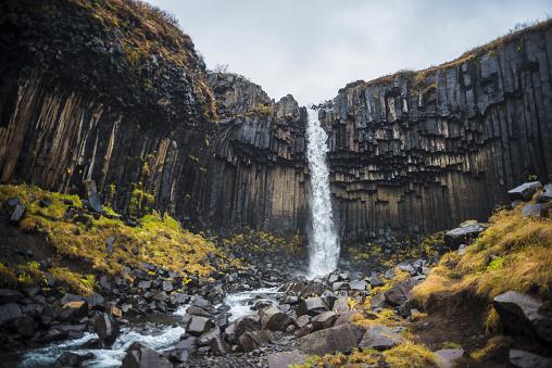 Basalt「Svartifoss in Skaftafell National Park, Iceland」:スマホ壁紙(3)