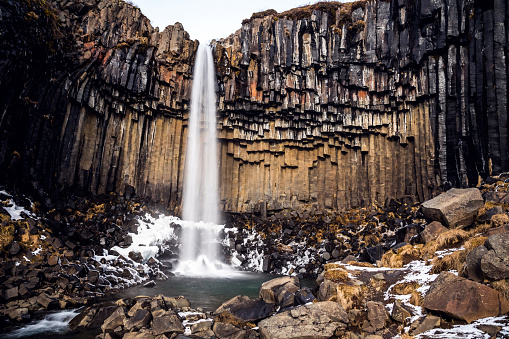 Awe「Svartifoss waterfall in Iceland」:スマホ壁紙(6)