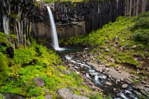 Basalt「Svartifoss and basalt columns ,  Iceland」:スマホ壁紙(12)