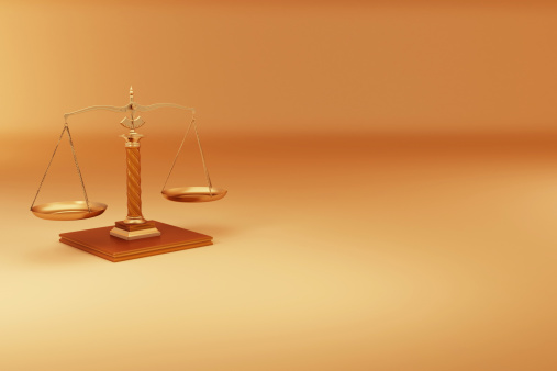 Election「Scale on yellow background. Symbol of justice. 3d」:スマホ壁紙(4)