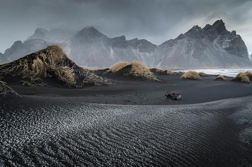 Iceland「Stoksnes Beach near Hofn in Iceland」:スマホ壁紙(18)