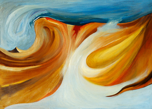Masterpiece「抽象マルチカラーの油絵テクスチャの背景パターン」:スマホ壁紙(2)