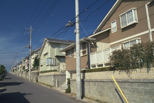 Telephone Pole「New houses, Chiba Prefecture, Honshu, Japan」:スマホ壁紙(9)