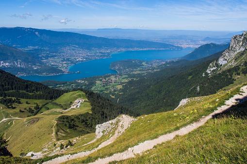Annecy Lake「Mountainous landscape. Perialpine Lake Annecy.」:スマホ壁紙(3)