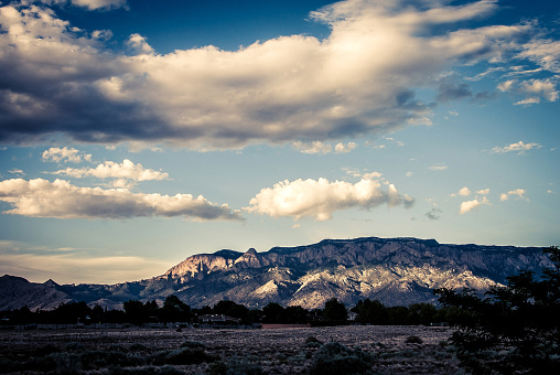 Sandia Mountains「Majestic  Cloudscape over Sandia Mountains」:スマホ壁紙(1)