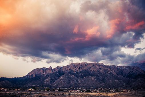 Sandia Mountains「Majestic  Cloudscape over Sandia Mountains」:スマホ壁紙(1)
