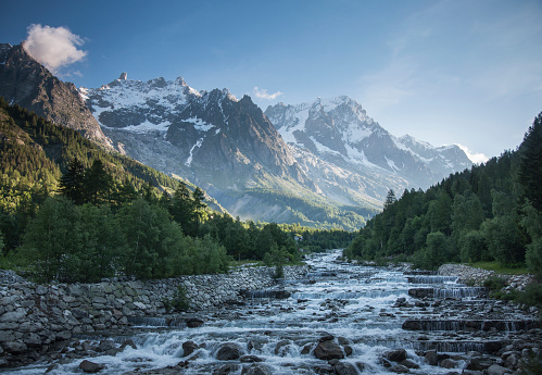 Extreme Terrain「Mont Blanc over remote stream, Courmayeur, Italy」:スマホ壁紙(2)