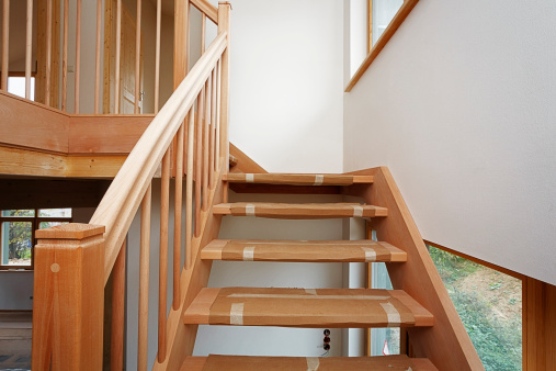 Beech Tree「Stairway made of beech tree in new built one-family house」:スマホ壁紙(9)
