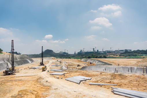 Land「Construstion site beside Songshan Lake in Dongguan, China」:スマホ壁紙(10)