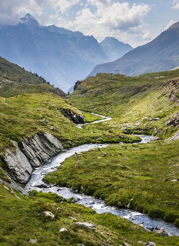 European Alps「River in Valle d'Aosta, Italy」:スマホ壁紙(15)