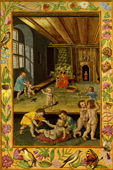 Medieval「Infants at play in the nursery middle ages」:写真・画像(14)[壁紙.com]