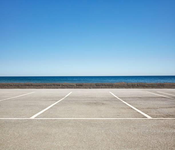Empty Beach front Parking Lot:スマホ壁紙(壁紙.com)