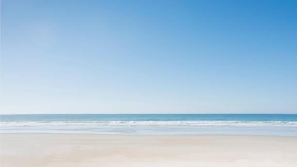 Empty beach at Surf City:スマホ壁紙(壁紙.com)