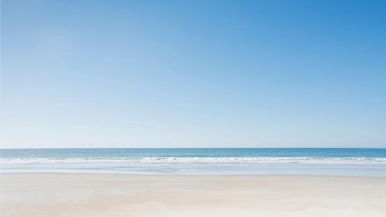 Blue「Empty beach at Surf City」:スマホ壁紙(1)