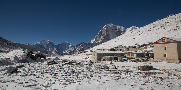 Khumbu Glacier「Village houses, Lobuche, Everest Base Camp Trek, Nepal」:スマホ壁紙(0)