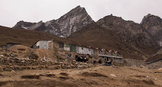 Khumbu Glacier「Village houses, Lobuche, Everest Base Camp Trek, Nepal」:スマホ壁紙(14)