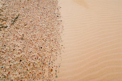 Chaos「boundary between pebbles & smooth sand」:スマホ壁紙(11)