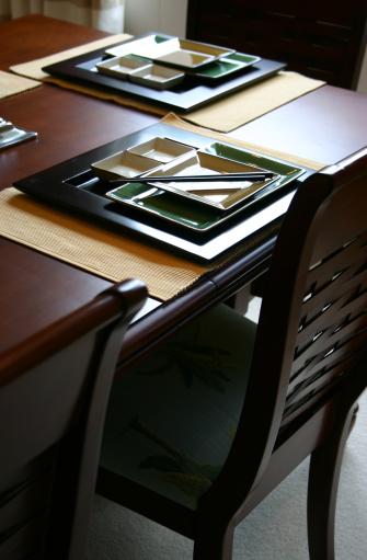 皿「アジアのテーブルセッティング」:スマホ壁紙(15)