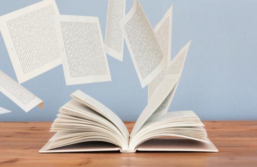 おとぎ話「Pages of a book flying away in the wind」:スマホ壁紙(6)