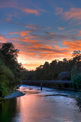 Lech River「Germany, Bavaria, View of Lech river at sunrise」:スマホ壁紙(19)