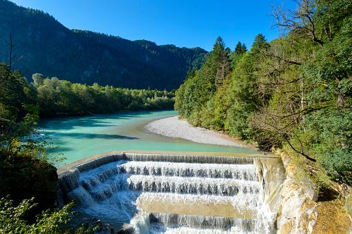 Lech River「Germany, Bavaria, East Allgaeu, Swabia, Lech Falls near Fuessen」:スマホ壁紙(8)