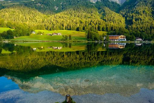 Germany「Germany, Bavaria, Upper Bavaria, Berchtesgadener Land, Ramsau, Berchtesgaden National Park, Lake Hintersee」:スマホ壁紙(19)