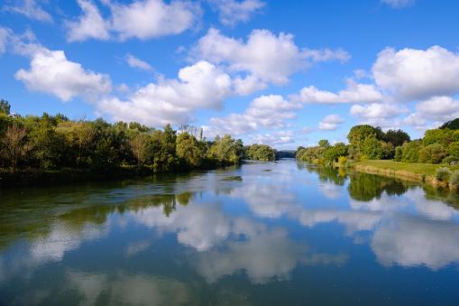 Lech「Germany, Bavaria, Swabia, Donau-Ries, river mouth of Lech into Danube river」:スマホ壁紙(9)