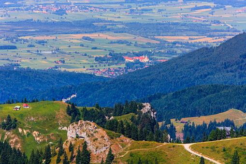 Brauneck「Germany, Bavaria, Brauneck mountain and Benediktbeuern monastery」:スマホ壁紙(16)