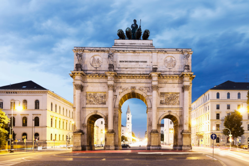 Munich「Germany, Bavaria, Munich, Victory Gate」:スマホ壁紙(3)