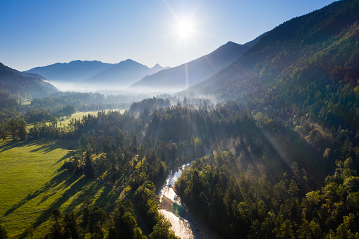 Jachenau「Germany, Bavaria, Jachenau, scenic mountainous landscape」:スマホ壁紙(16)