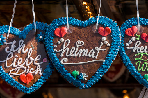 Munich「Germany, Bavaria, Munich, gingerbread hearts at the Oktoberfest」:スマホ壁紙(8)