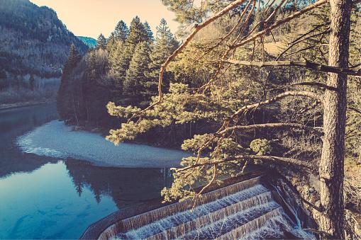 Lech River「Germany, Bavaria, Lech dam near Fussen」:スマホ壁紙(15)