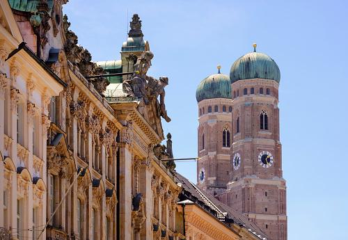 Munich「Germany, Bavaria, Munich, detail of the Church of Our Lady」:スマホ壁紙(18)