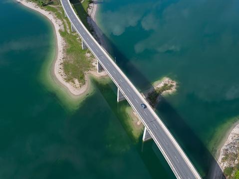 Lenggries「Germany, Bavaria, Sylvenstein dam and bridge」:スマホ壁紙(8)