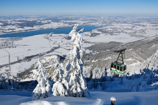 Aerial tramway「Germany, Bavaria, Teleferic on Lake Forggensee」:スマホ壁紙(2)