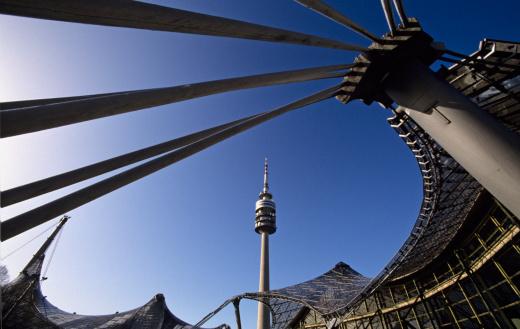 Olympic Stadium「Germany, Bavaria, Munich, Olympiapark with TV tower」:スマホ壁紙(11)