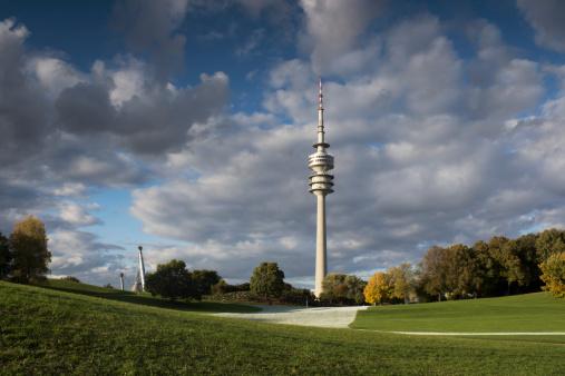 Munich「Germany, Bavaria, Munich, Olympic Tower and Olympic Park」:スマホ壁紙(1)
